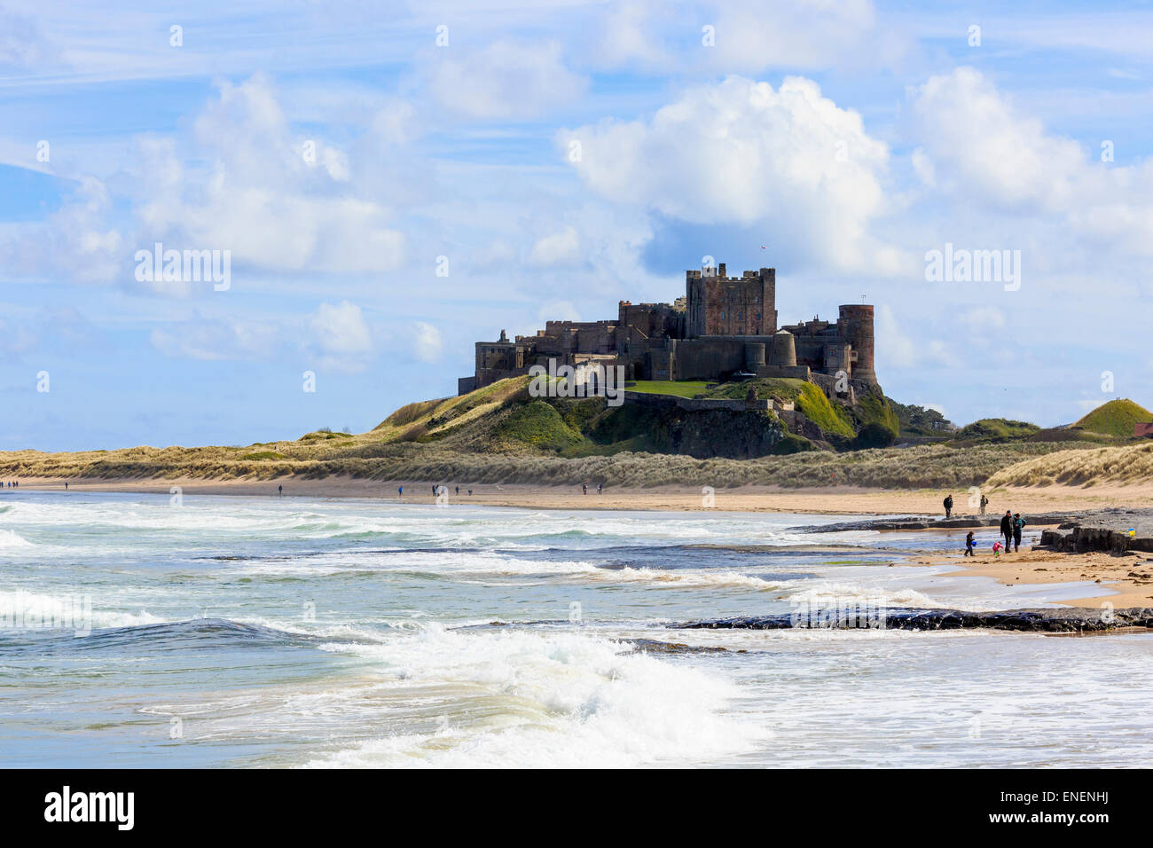 Bamburgh Castle, Northumberland, England, UK - Stock Image