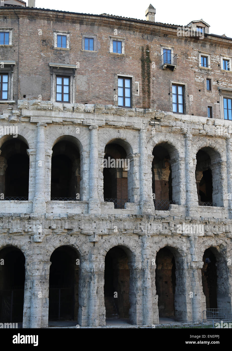 Italy. Rome. Theater of Marcellus. Roman Republic. 13 BC. - Stock Image
