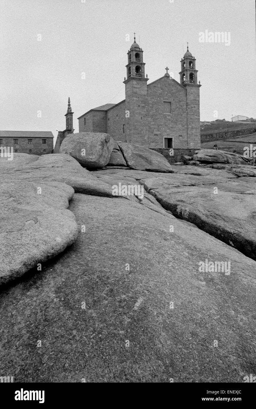 Santuario da Virxe da Barca virgen de la barca Muxia Finisterre Galicia Spain - Stock Image
