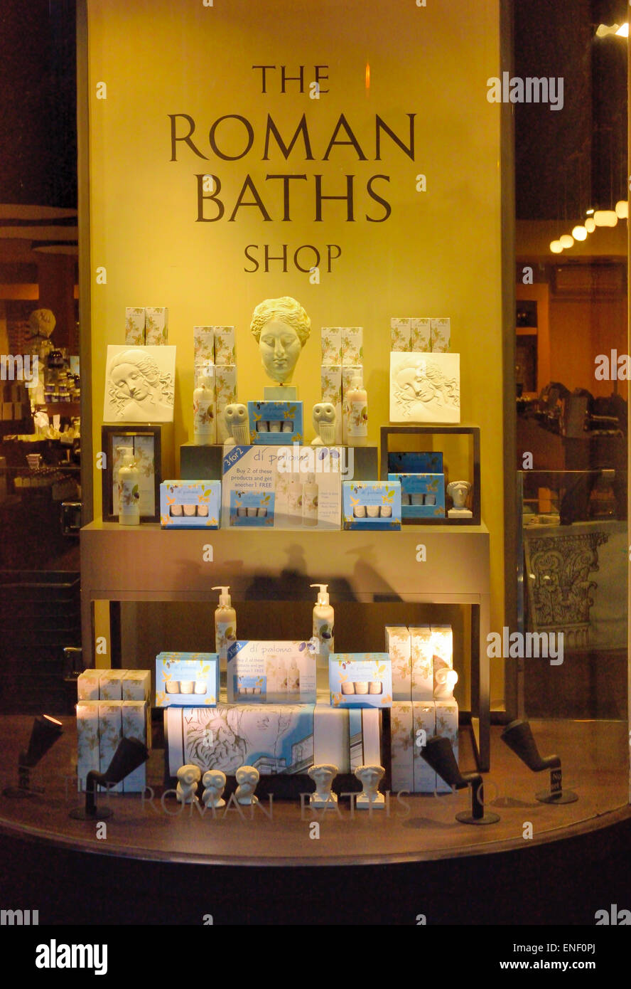 Roman Baths Shop Bath Northeast Somerset England UK Stock Photo ...