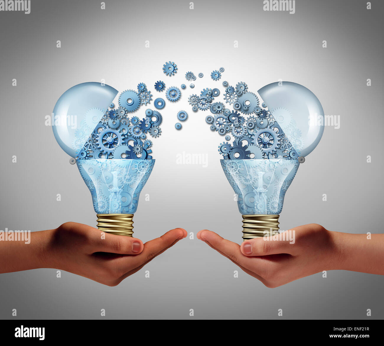 Ideas agreement Investing in business innovation concept and financial commerce backing of creativity as an open - Stock Image
