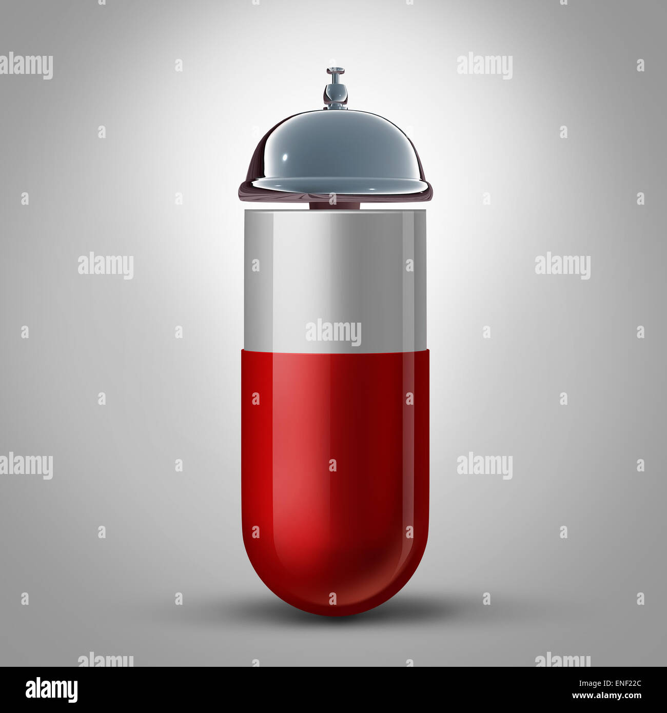 Medicine service and pharmacy drugstore assistance and pill preparation guidance as a medication capsule with a - Stock Image