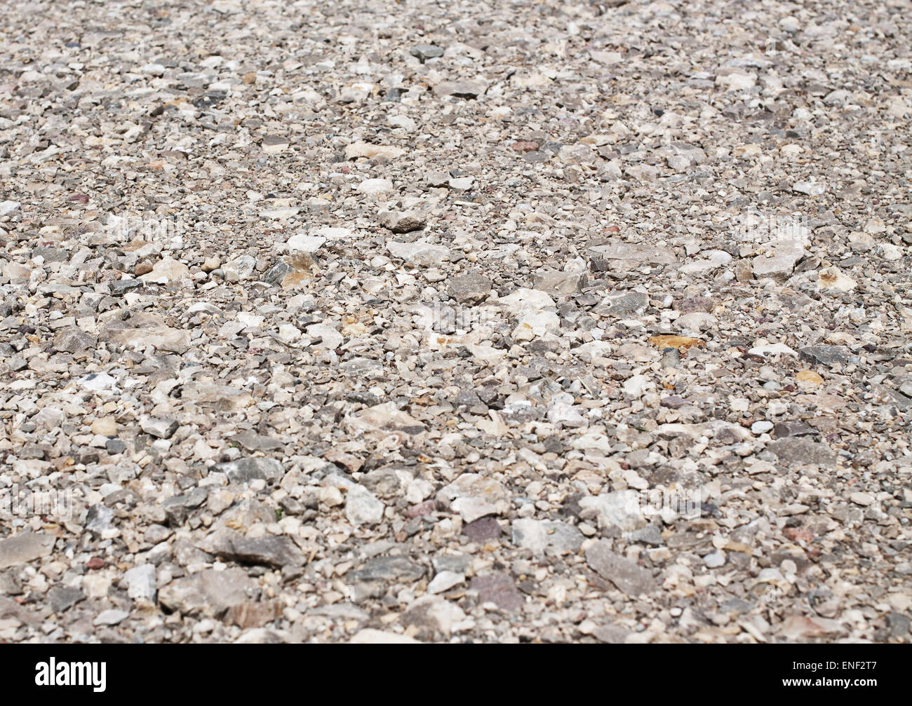 Background of gravel road, gray stone texture - Stock Image