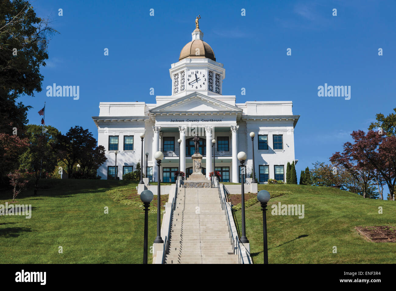 Sylva, Jackson County, North Carolina, United States of America.  Jackson county courthouse. - Stock Image