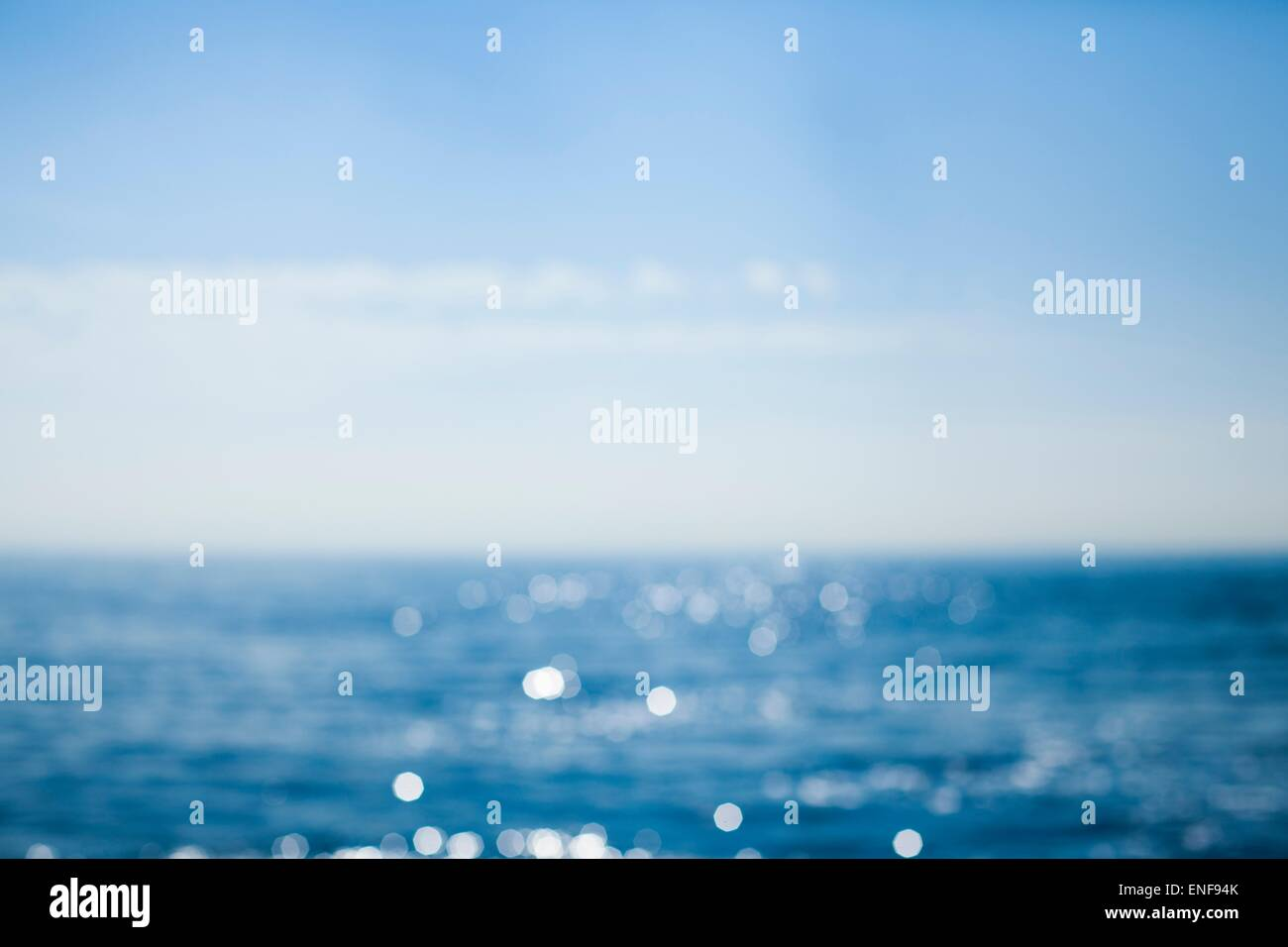 Blurry photo of the sea and sky - Stock Image
