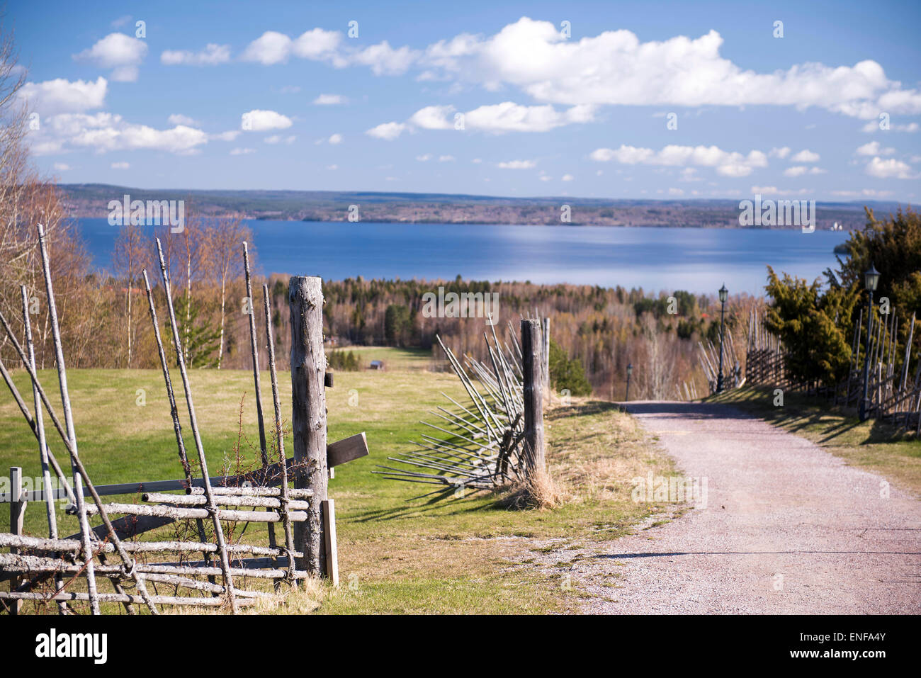 View from Dalarna Sweden - Stock Image