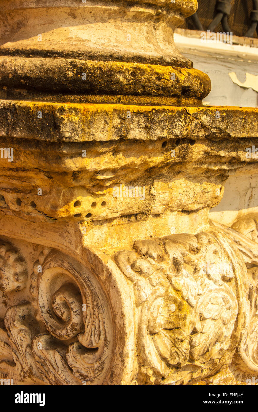 old rustic column - Stock Image
