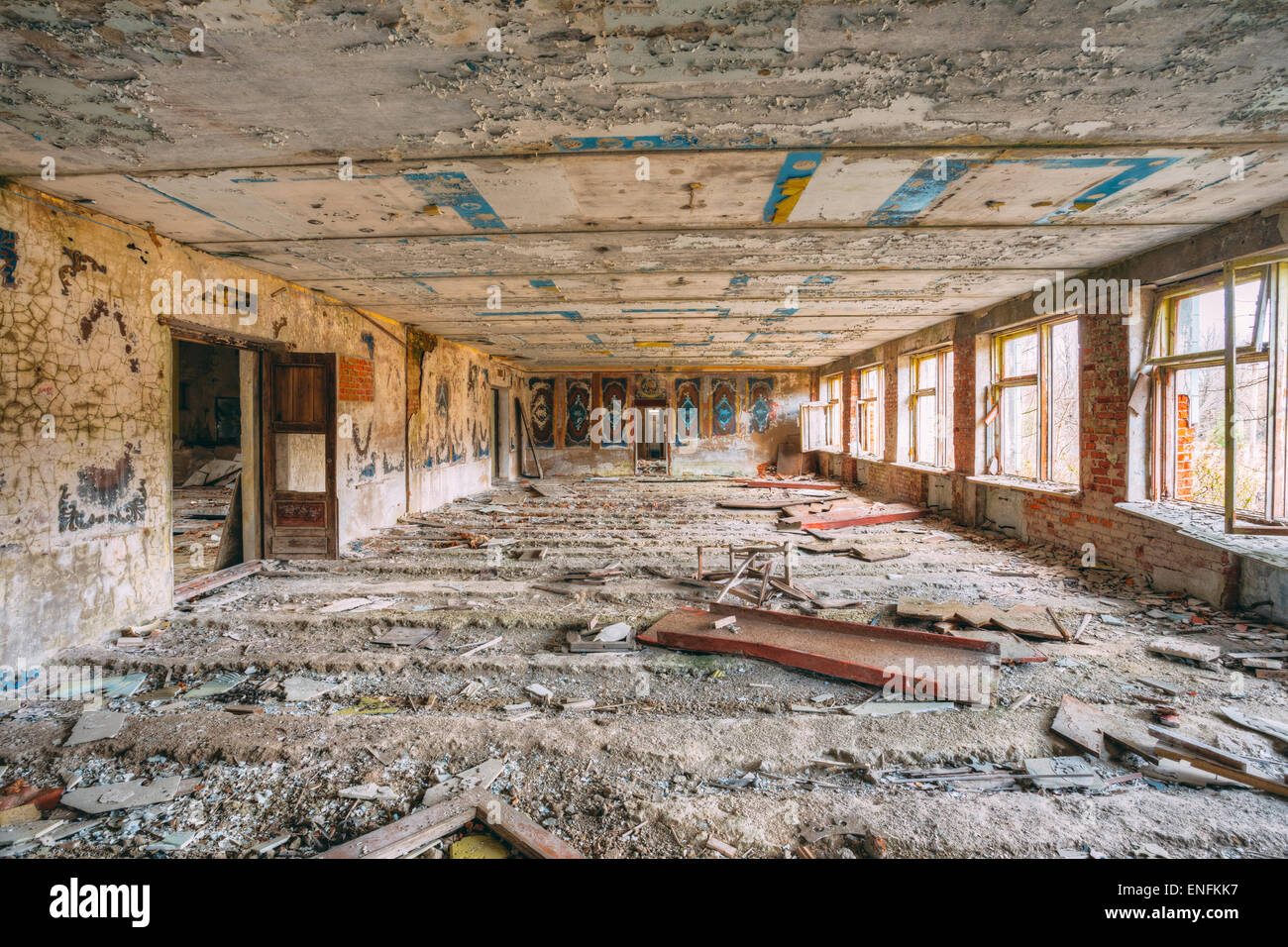 Abandoned Store Interior In Chernobyl Zone. Chornobyl Disasters - Stock Image