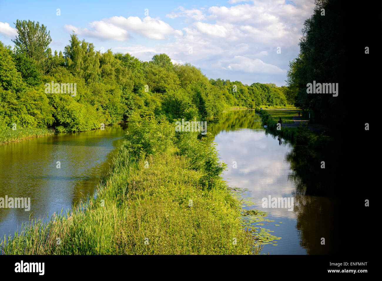 Two of the earliest canals in the UK: the Sankey Canal and the Sankey Brook Navigation Stock Photo
