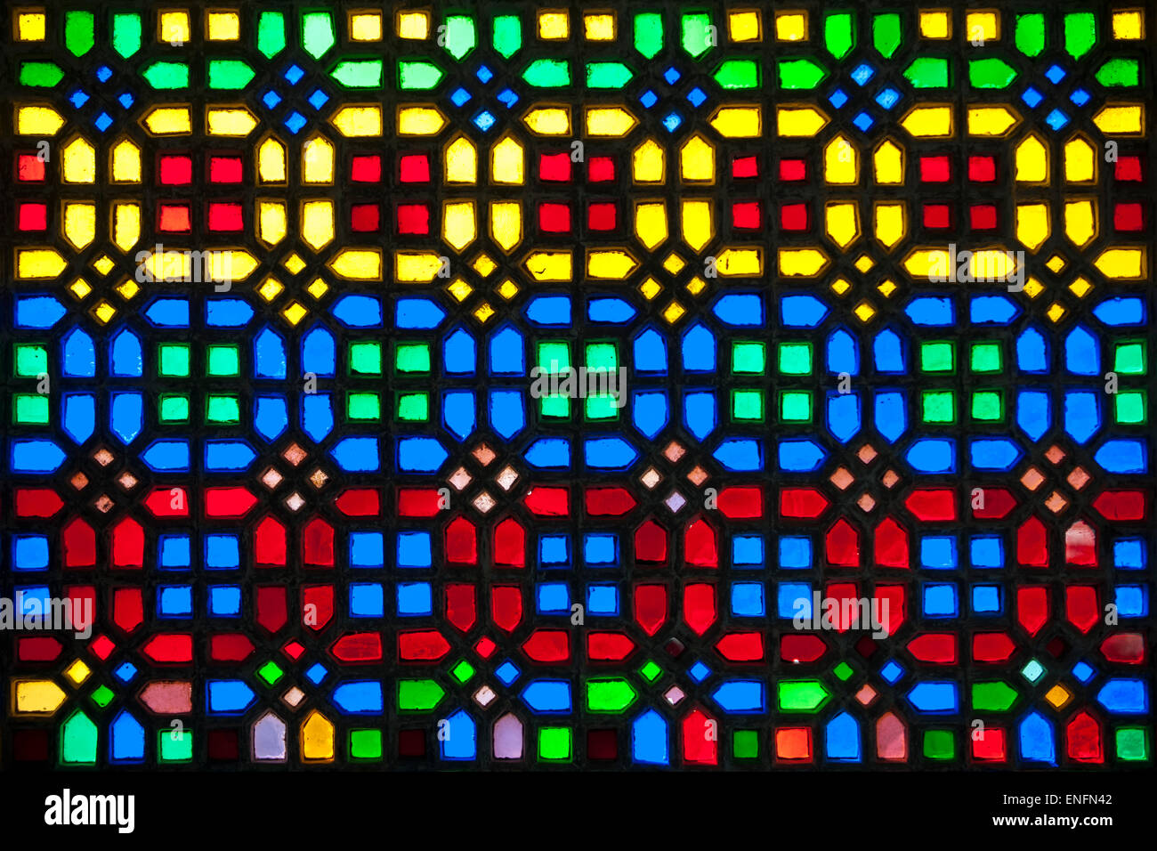 a2f0ec94d39a Stained Glass Window Udaipur Rajasthan Stock Photos   Stained Glass ...