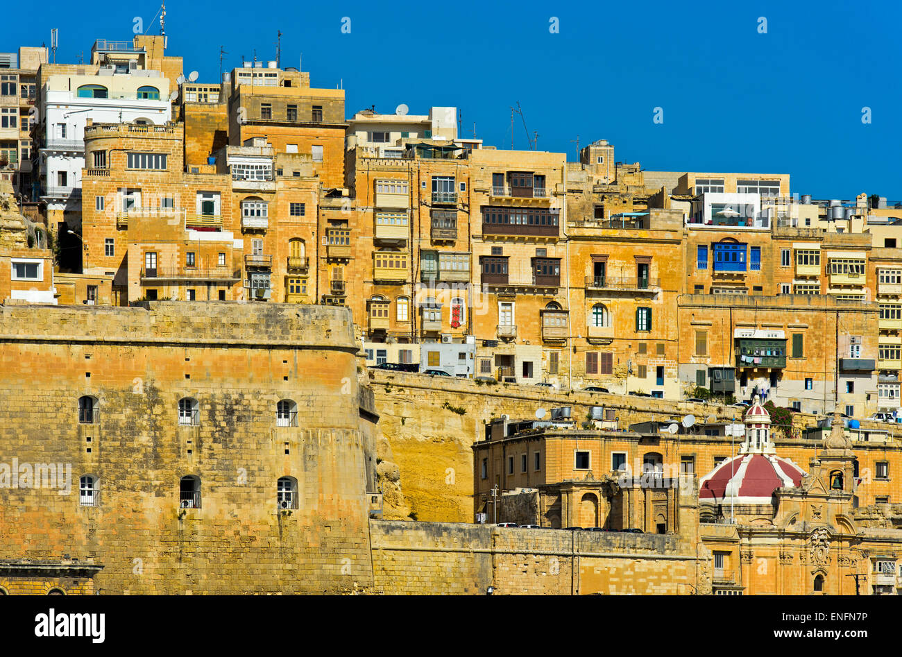 Historic centre of Valletta, Malta - Stock Image