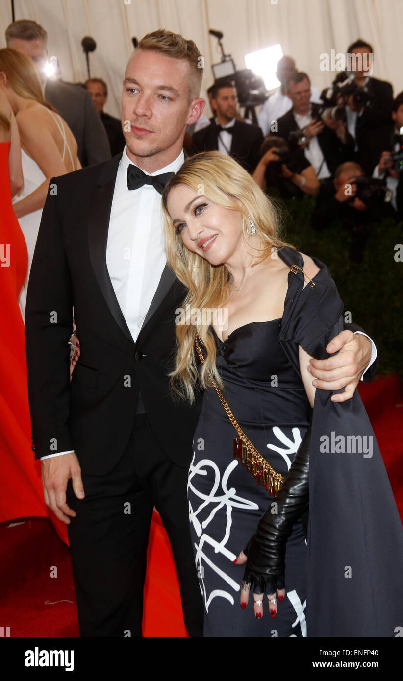 Diplo Singer >> New York Usa 4th May 2015 Singer Madonna And Musician