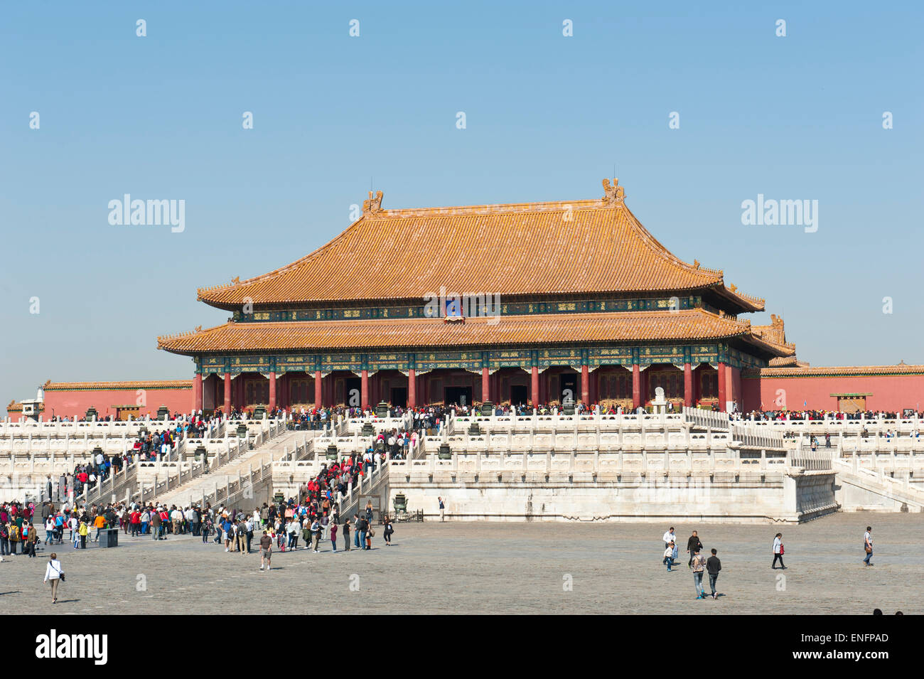 Hall of Supreme Harmony, Forbidden City, Emperor's Palace, Beijing, People's Republic of China - Stock Image