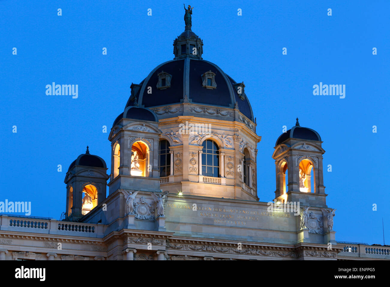 Dome of the Museum of Art History or Kunsthistorisches Museum, Vienna, Austria Stock Photo
