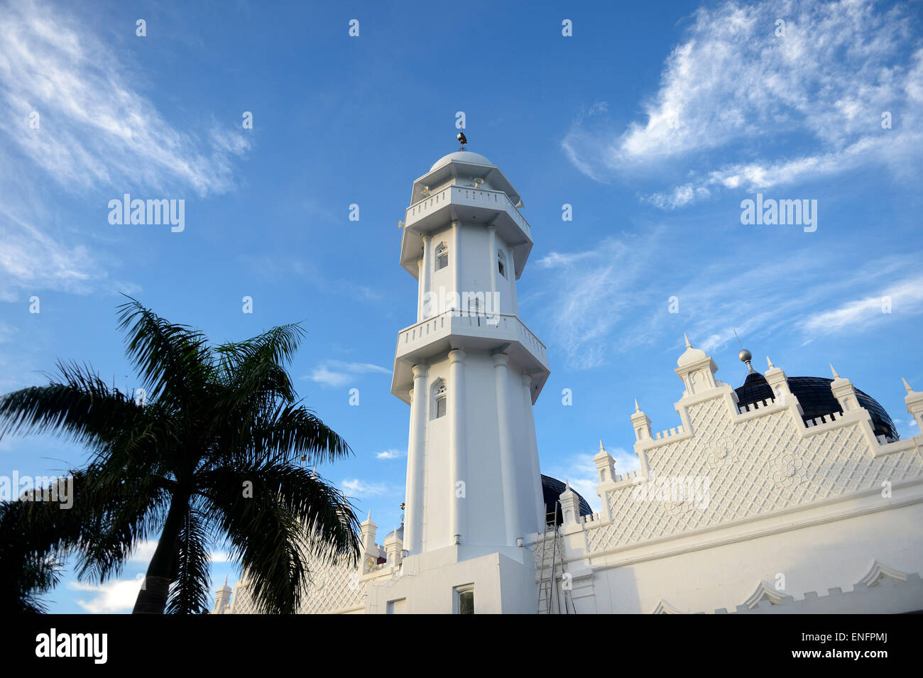 Minaret, Great Mosque, Banda Aceh, Indonesia Stock Photo