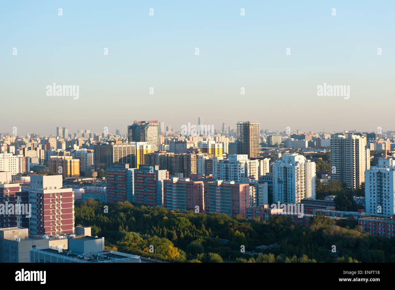Skyscrapers, view of the city, Beijing, People's Republic of China - Stock Image