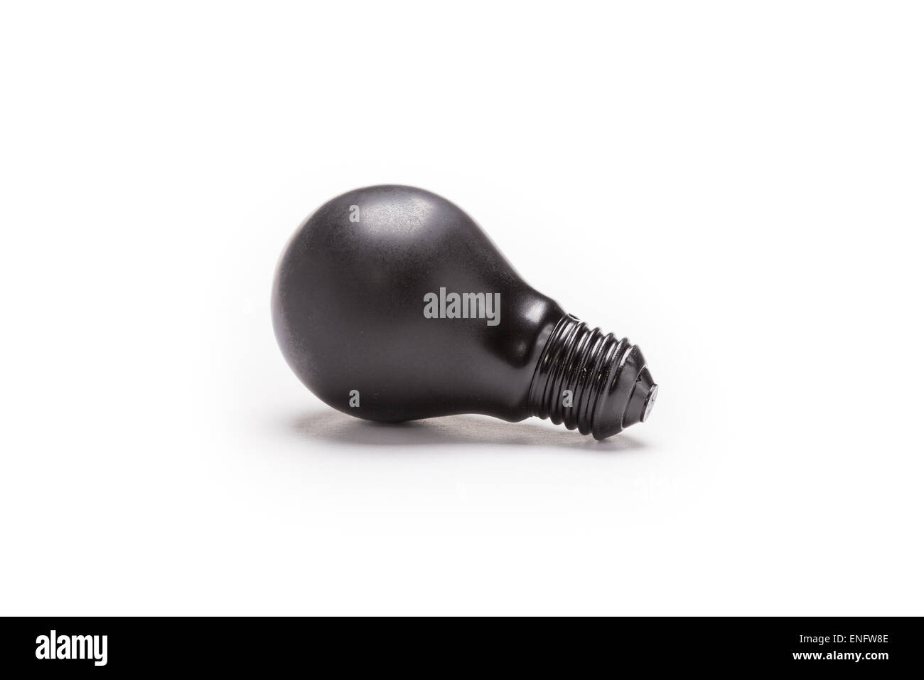 Painted Light Bulb On A White Background For Concept As Energy And Recycling