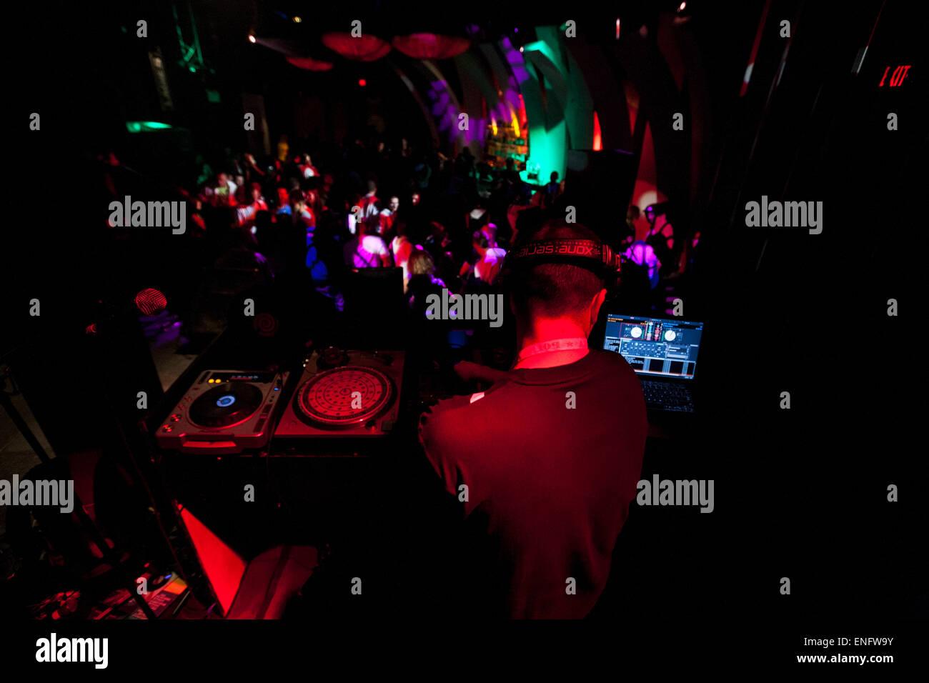 DJ in the Club Brooklyn, NY, USA Stock Photo