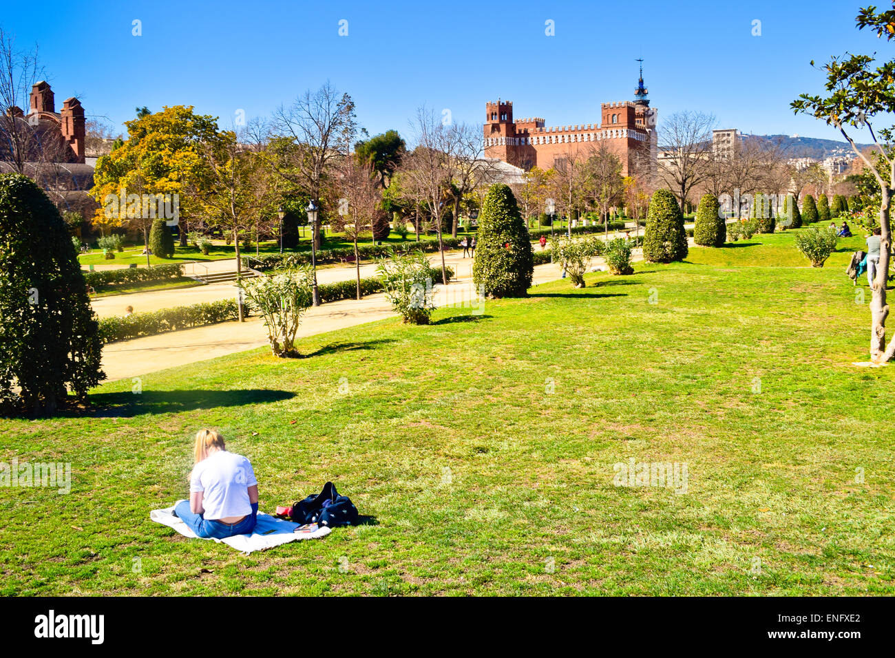 Ciutadella Park. Parc de la Ciutadella, Barcelona, Catalonia, Spain. - Stock Image