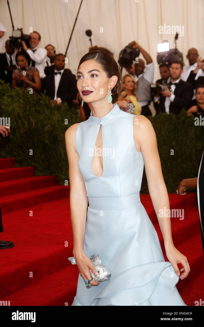 New York, USA . 4th May, 2015. Model Lily Aldridge attends the 2015 Costume Institute Gala Benefit celebrating the Stock Photo