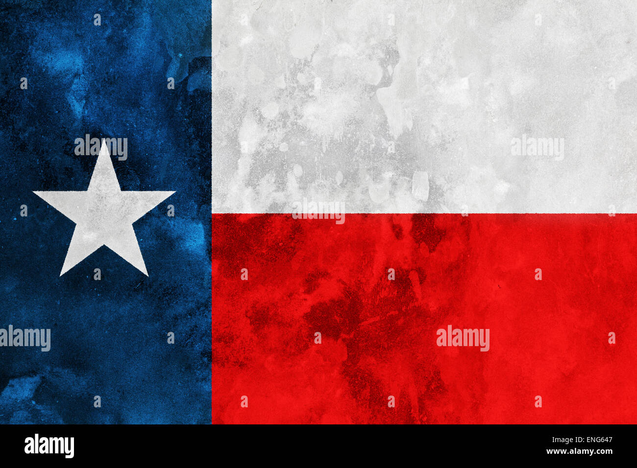 Grunge stylized flag of Texas State - Stock Image