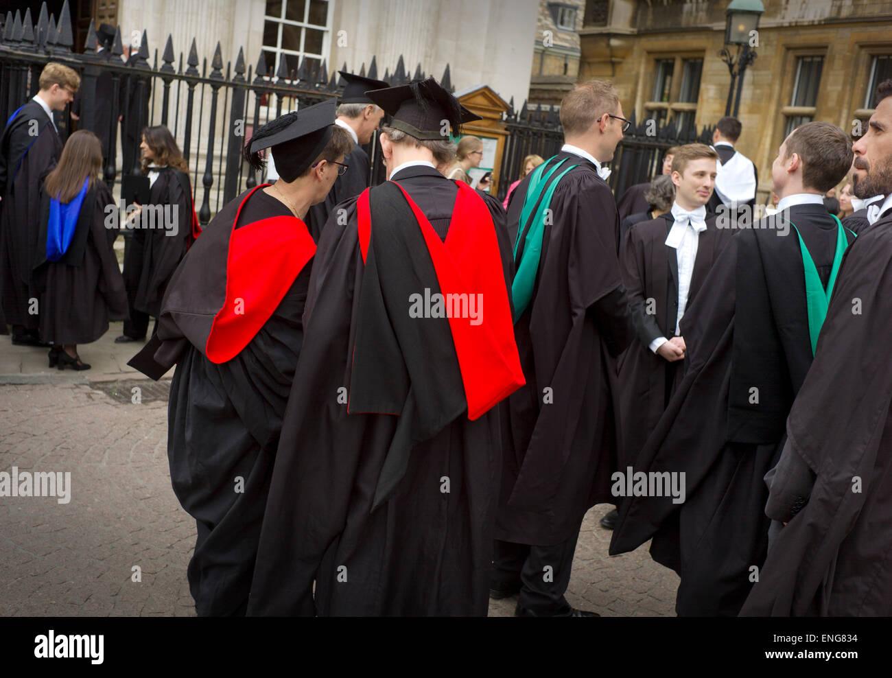 Cambridge University Students Graduation Ceremony at the Seante House, Cambridge, England, UK. April 2015 - Stock Image