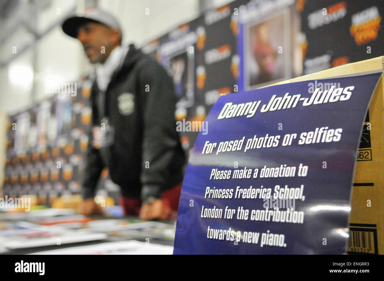 Belfast, Northern Ireland. 2 May 2015 - Actor Danny John Jules attends Comicon - Stock Image