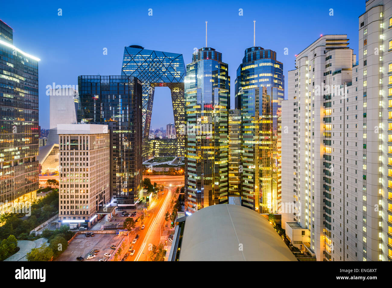 Beijing, China Central Business District cityscape. - Stock Image