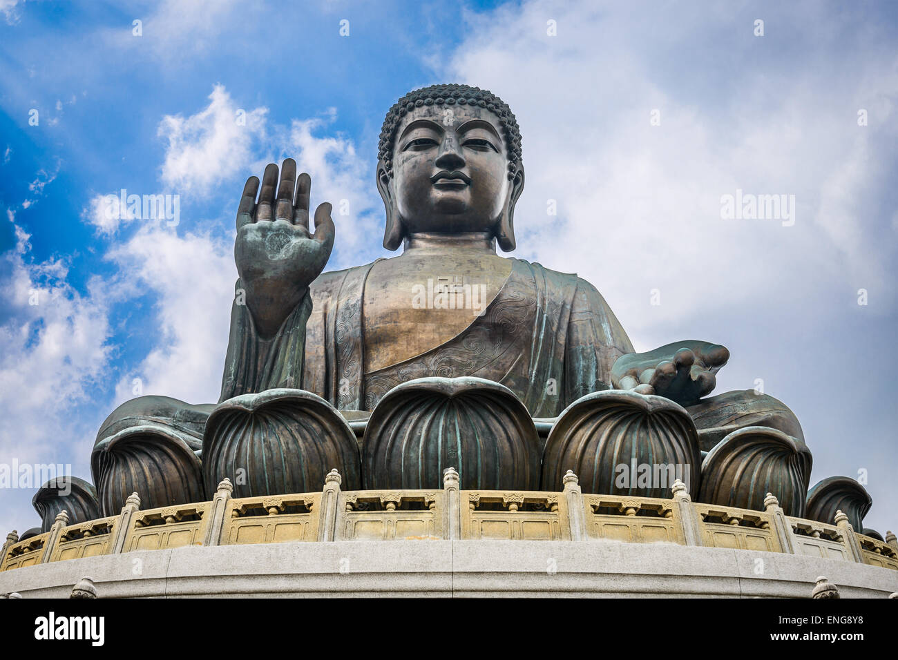 Hong Kong, China at the Tian Tan Buddha. - Stock Image