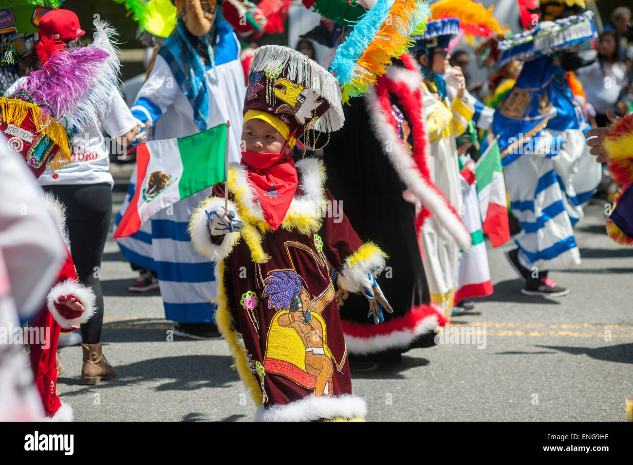 Folk Dancers In The Cinco De Mayo Parade In New York On Sunday May 3 2015 The Holiday Commemorates A Victory Of Mexican Forces Led By General Ignacio