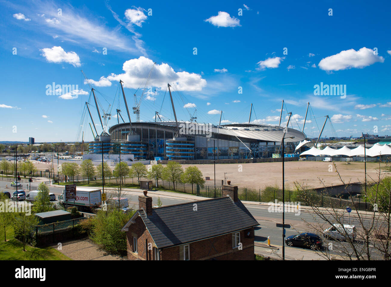 Etihad Stadium in Manchester, United Kingdom. - Stock Image