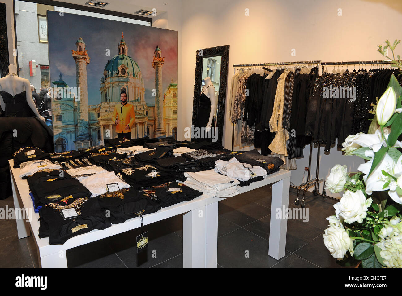 Munich, Germany. 05th May, 2015. Designer Harald Gloeoeckler opens his first Pop-Up-Store in Munich, Germany, 05 - Stock Image