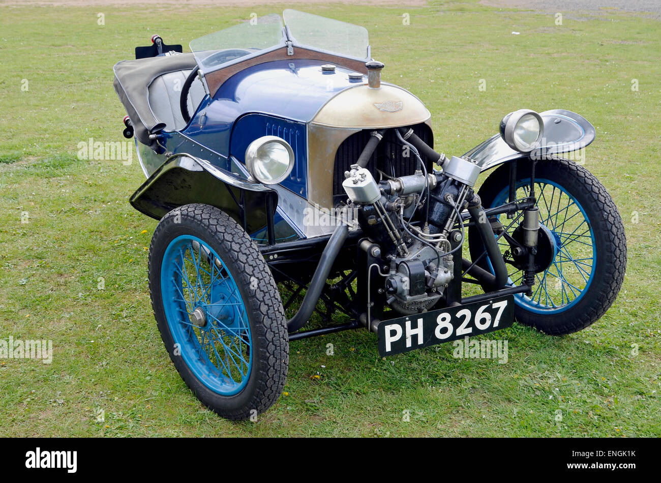Morgan Aero V-twin three-wheeler sports car from the 1920's and 1930's. This example has a JAP engine. - Stock Image