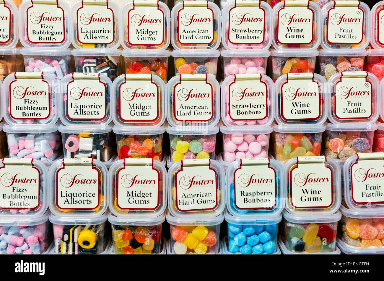 Tubs of sweets on a shelf in a sweet shop Stock Photo: 82119737 - Alamy