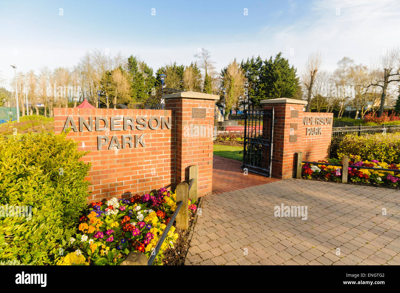 Anderson Park, Coleraine, Northern Ireland - Stock Image