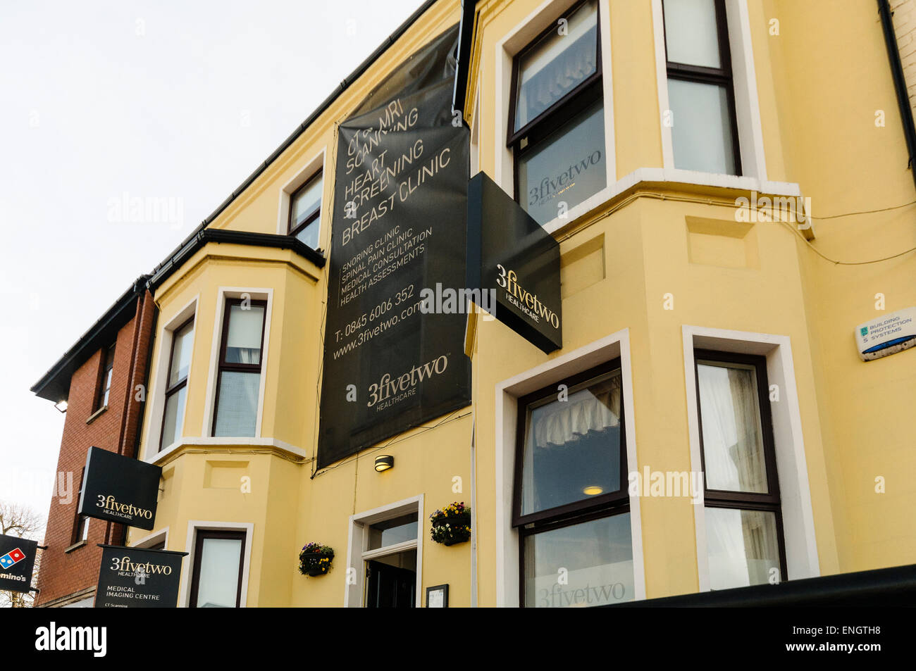 3fivetwo private medical centre, Lisburn Road, Belfast, specialising in cardiac screening - Stock Image
