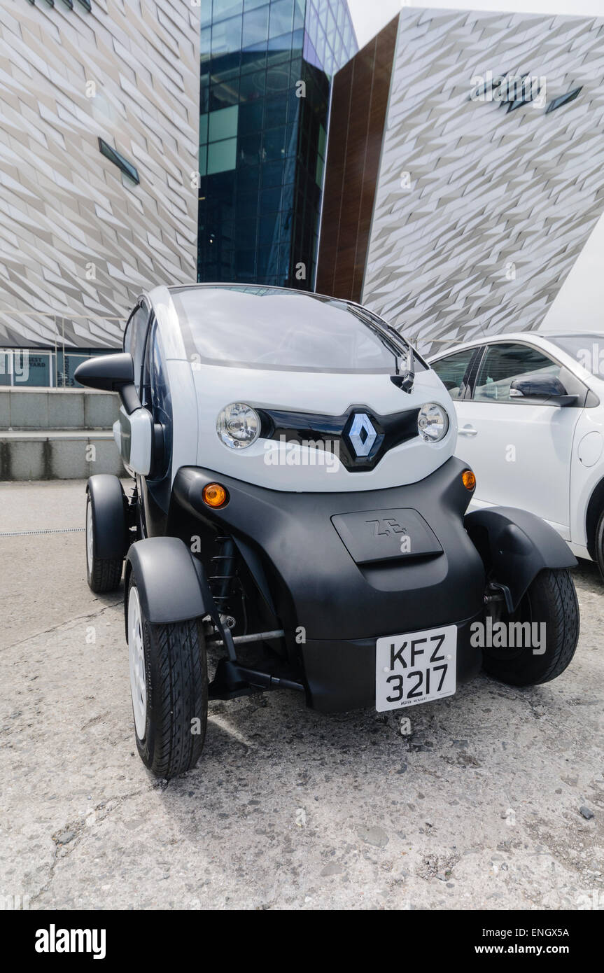Renault Twizy, a two seater electric vehicle designed for town use. - Stock Image