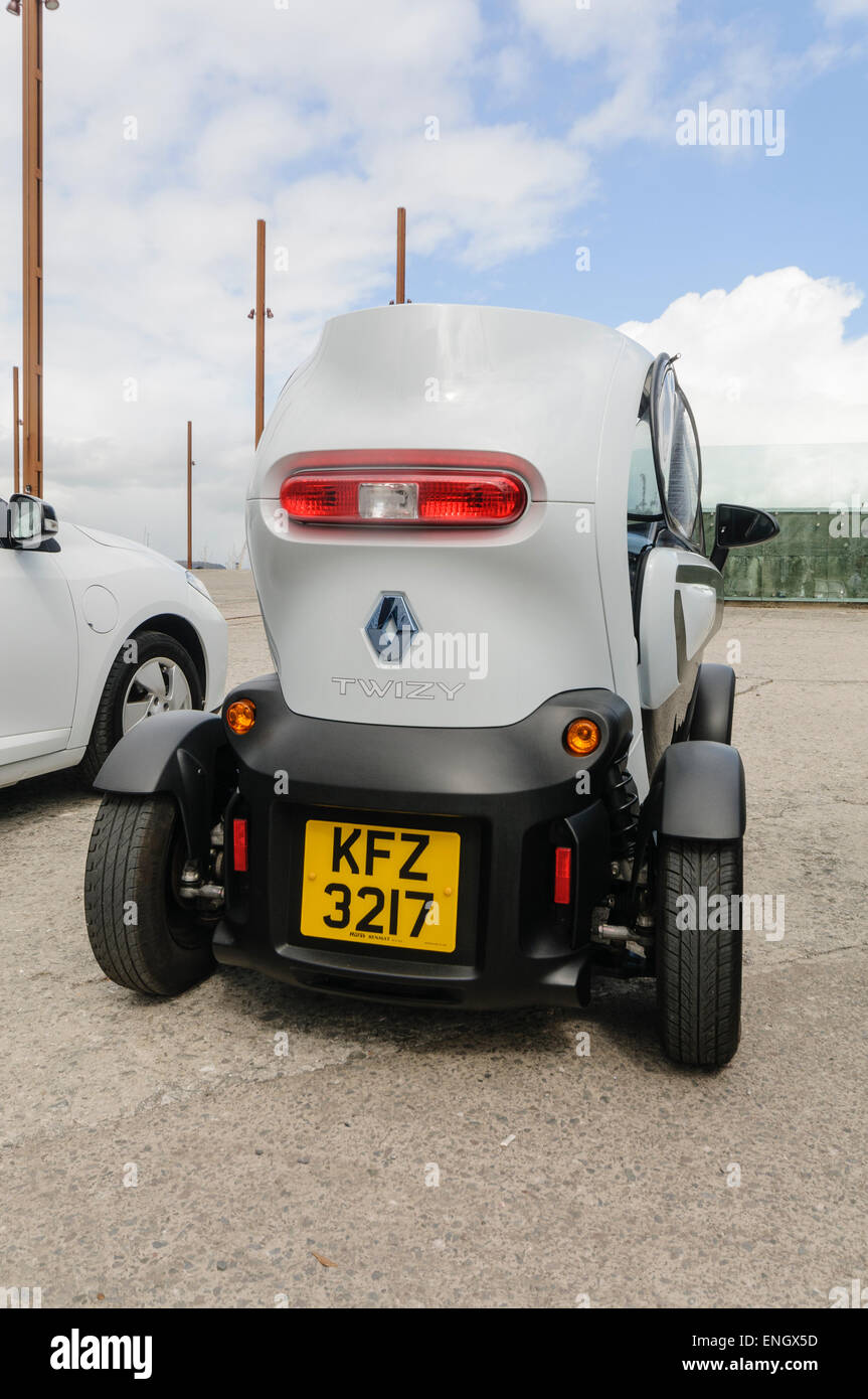 Renault Twizy, a two seater electric vehicle designed for town use. Stock Photo