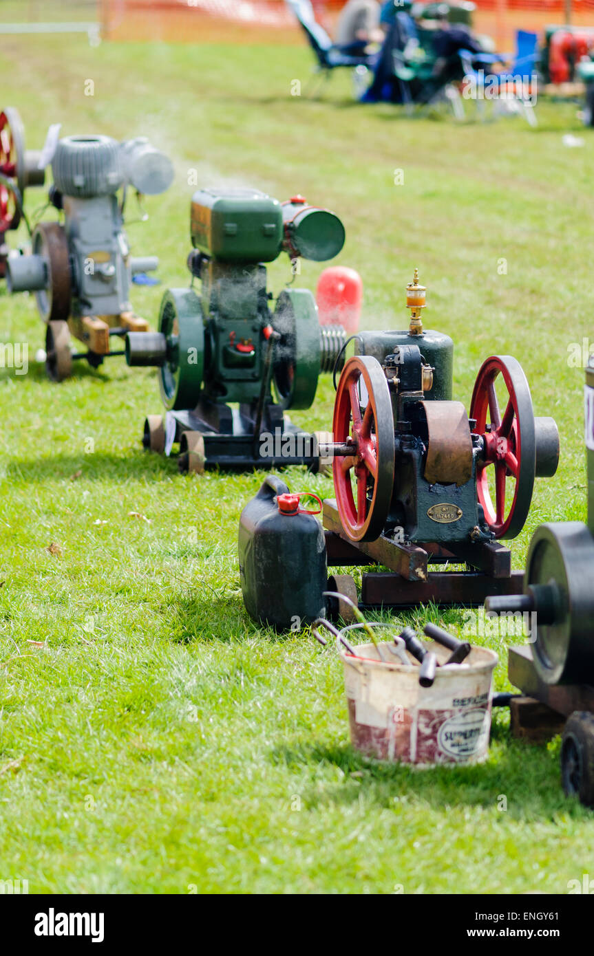 Line of stationary steam engines, used to pump water - Stock Image