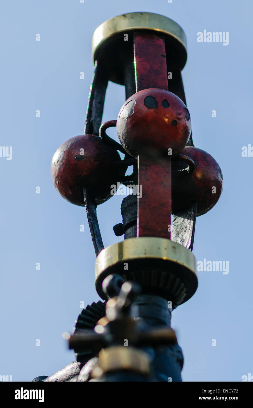 Governor on top of a traction engine - Stock Image