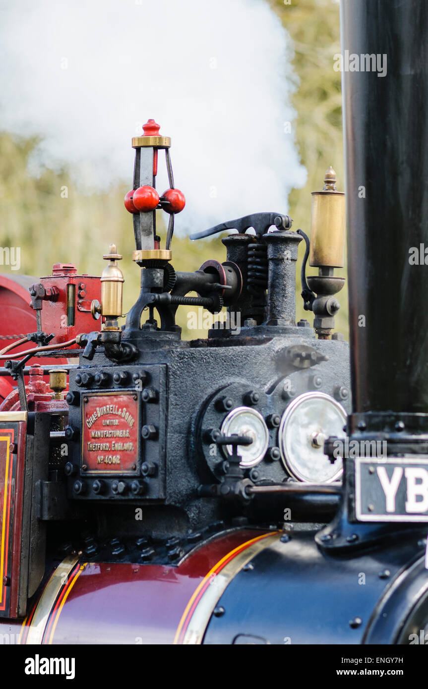 Governor and whistle on top of a traction engine - Stock Image