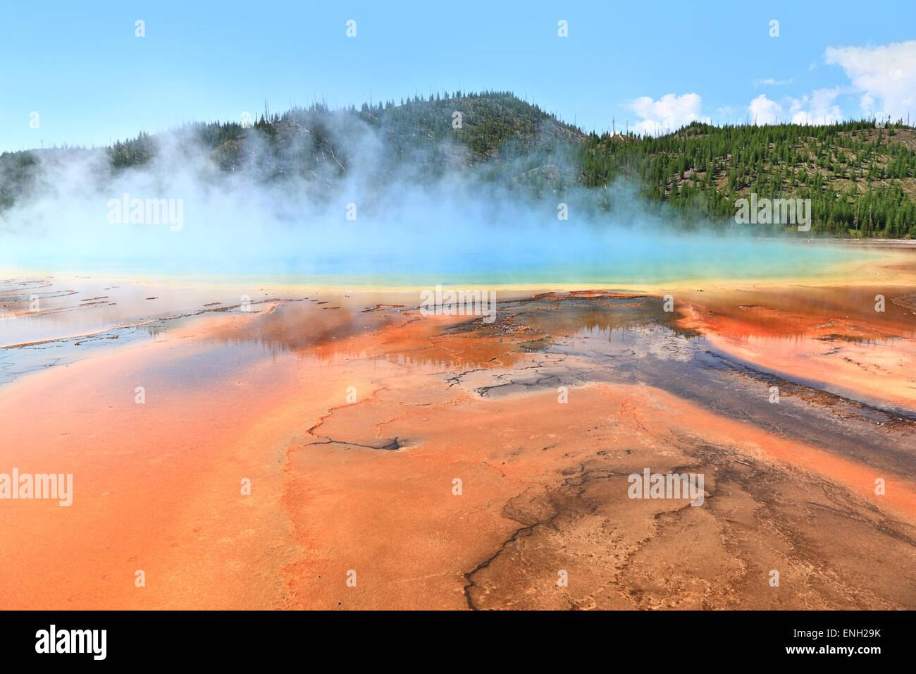 Grand Prismatic Spring at Yellowstone - Stock Image