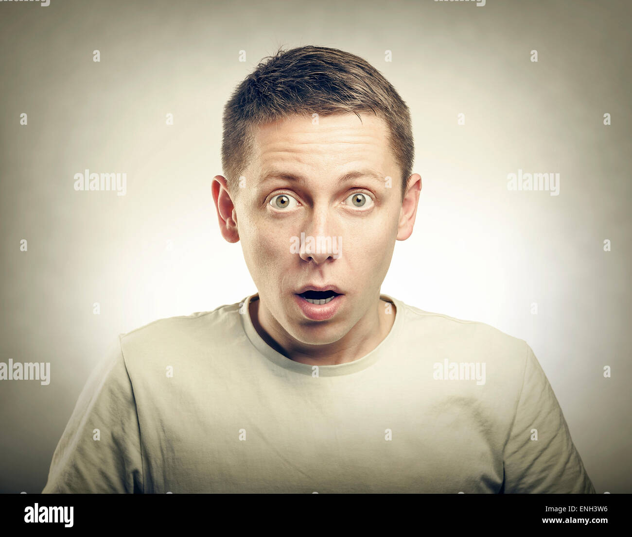 Surprised Young Man. - Stock Image