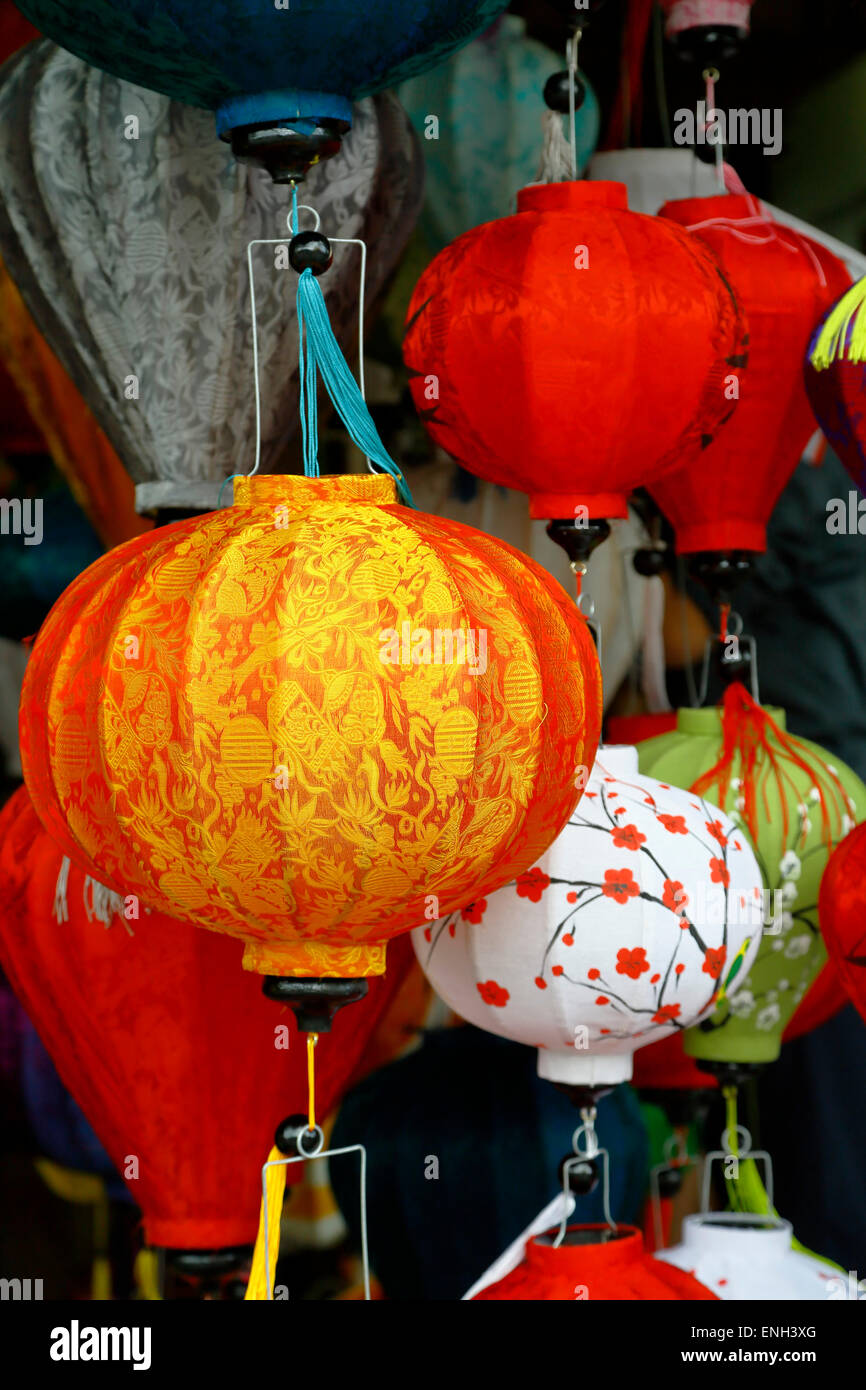 Colorful lanterns, Hoi An, Vietnam - Stock Image
