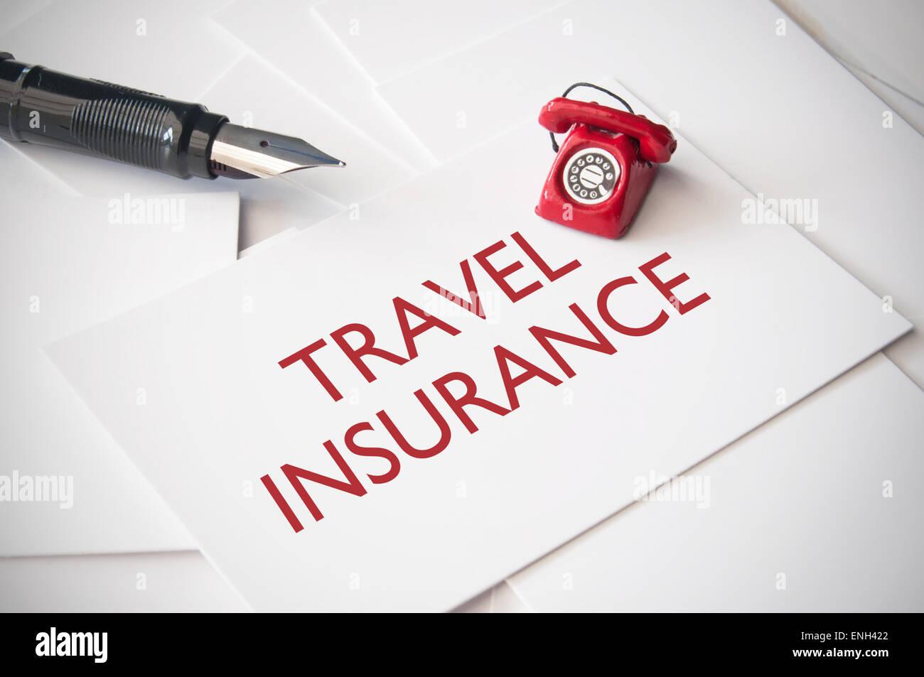 Travel insurance - Stock Image