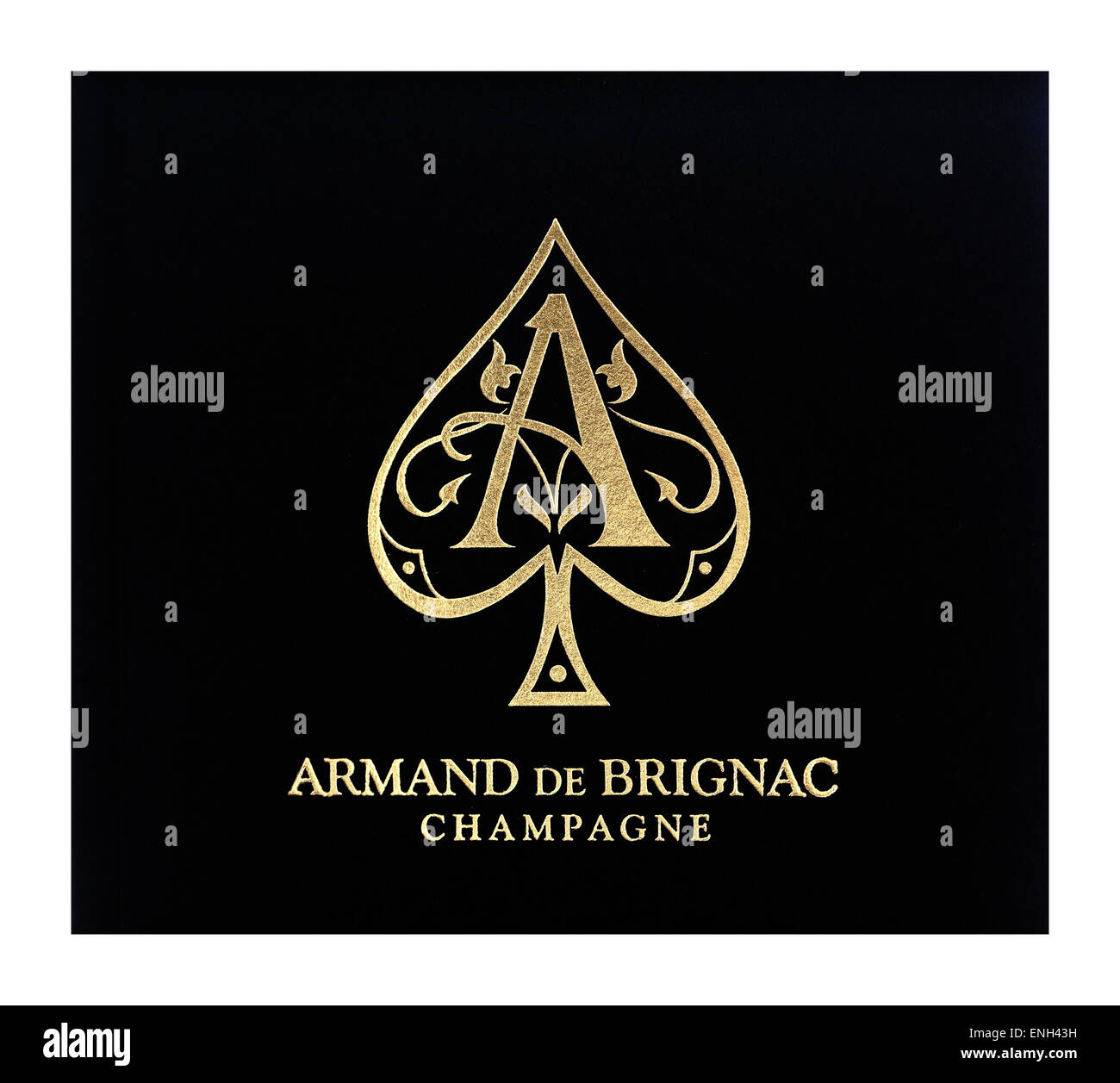 Armand de Brignac 'Ace of Spades' luxury champagne label - Stock Image