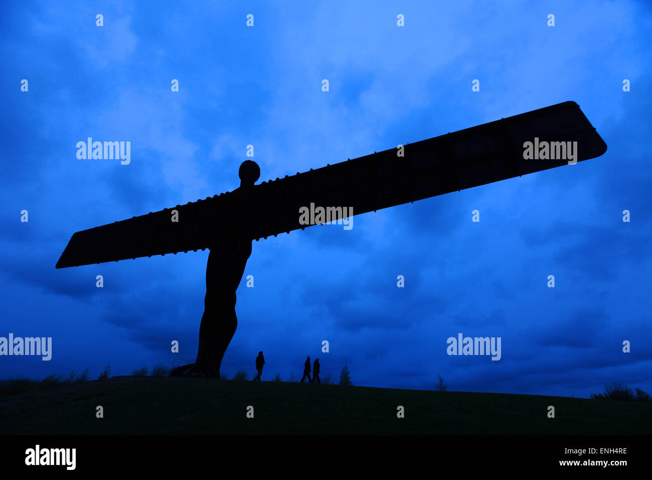 Angel of the North sculpture in Gateshead near Newcastle - Stock Image