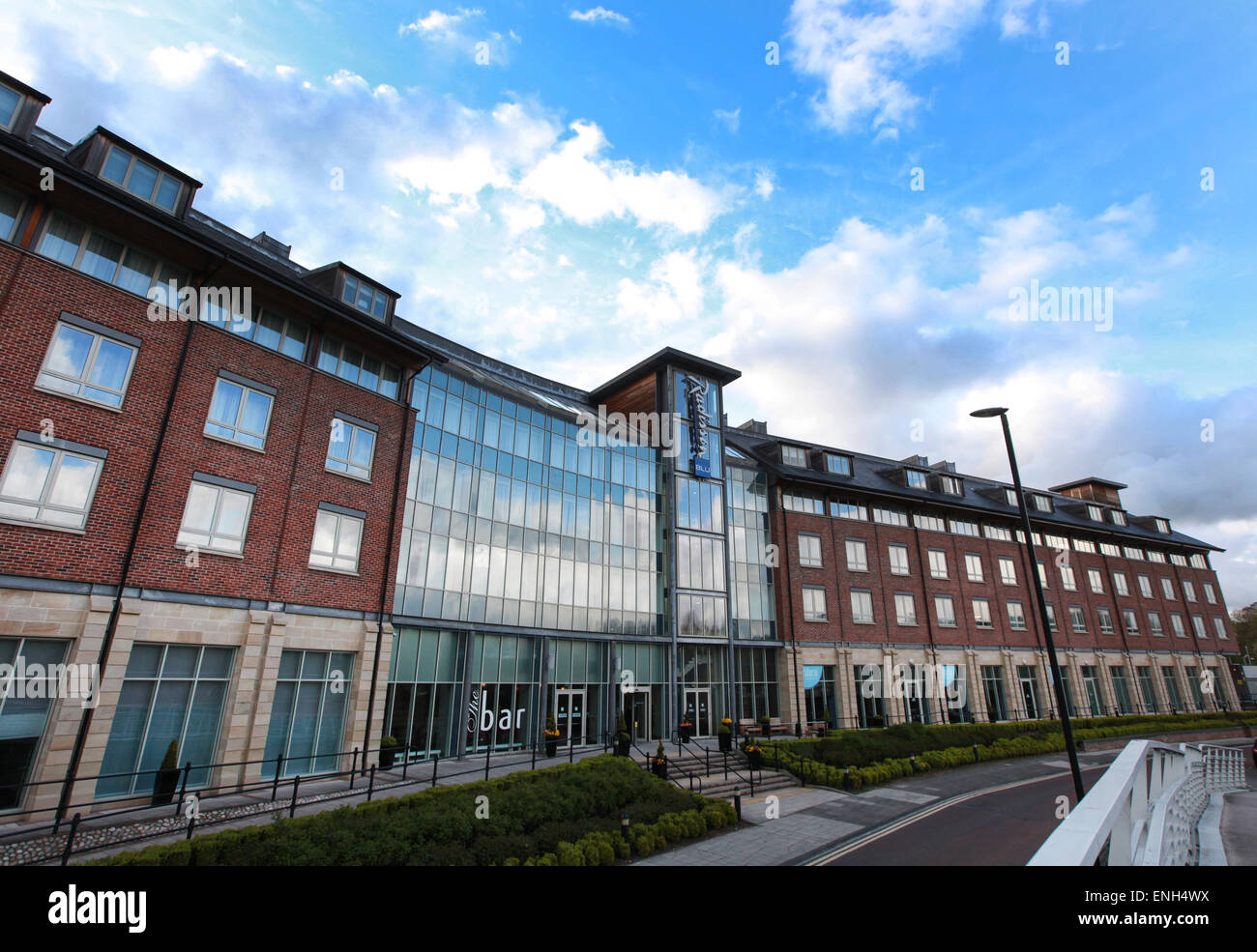 Radisson Blu Hotel Durham exterior Durham city centre Stock Photo