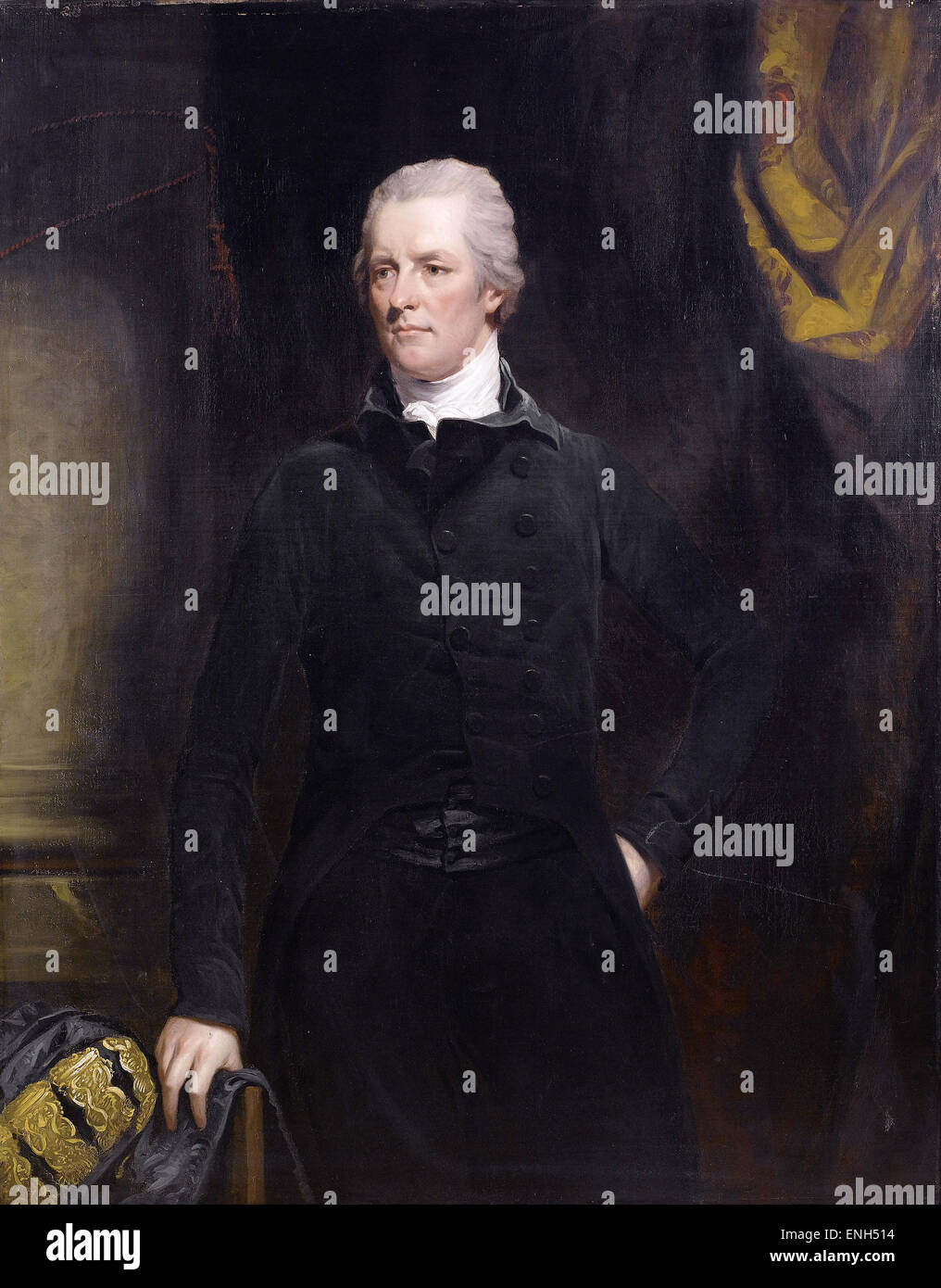 William Pitt the Younger youngest Prime Minister of Great Britain in 1783 - Stock Image