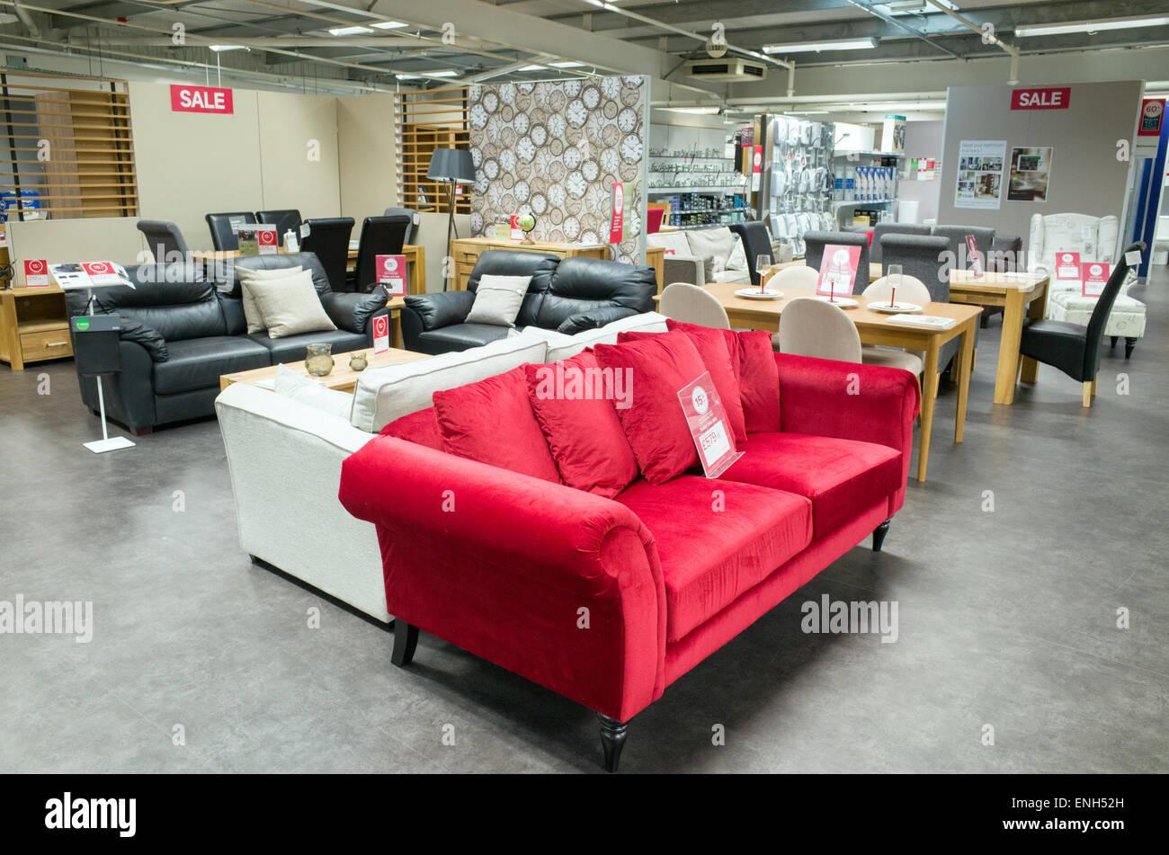 New Sofas In Homebase Store England Uk Stock Photo 82126425 Alamy